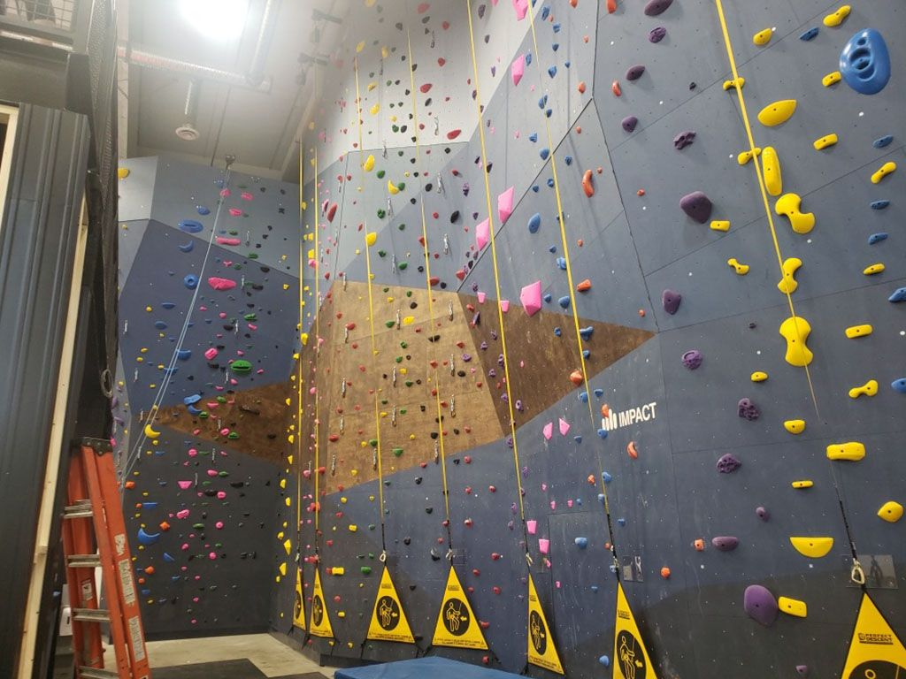 wall made for climbing